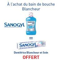 SANOGYL Bain de Bouche Blancheur = SANOGYL Dentifrice Blancheur OFFERT