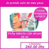 Offre Femme - Vichy idéalia sérum 30ml + trousse+ échantillon Offert