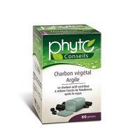 Yves Ponroy Argile Verte -  Charbon Végétal Bio 60 Gélules