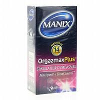 MANIX OrgazmaxPlus texture maxi perlée + Time Control 14 préservatifs