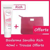 Offre Bioderma Sensibio Rich 40ml - Trousse Offerte