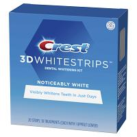 Crest whitestrips soin dentaire blanchissant noticeably white 20 strips