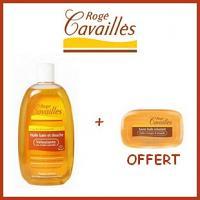 Offre Rogé Cavaillès Huile Bain et Douche Veloutante 250ml + Savon huile Veloutant 115g Offert