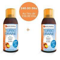 Offre Speciale - FortePharma Turbo draine Minceur Pêche (Lot de 2) - le 2eme a -50%