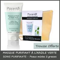 Offre Placentor Vegetal Masque Purifiant à l'argile verte 150 ml + Trousse Offerte