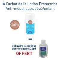 Moustifluid Lotion protectrice Bébé/Enfant = 1 gel hydroalcoolique OFFERT