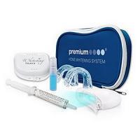 Beaming Withe Kit de blanchiment des dents à la maison blanc à rayures avec lumière LED