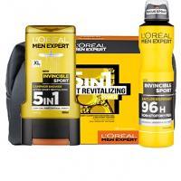 Offre L'OREAL Men Expert Invisble sport 96H anti-transpirant (200 ml)+ Gel douche 5 en 1 (300 ml) Trousse Offerte