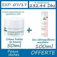 Offre Nuxe Crème Fraîche de Beauté Peaux Seches 50ml - Eau démaquillante micellaire 100ml OFFERTE
