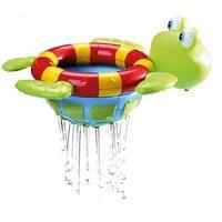 Nuby Tortue de bain flotte et laisse couler de l'eau 12M+ Réf : ID6145