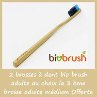 Biobrush 2 brosses à dent adulte au choix + la 3 ème brosse adulte médium Offerte