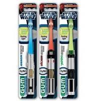 GUM Brosse a Dent Star Wars Sabre Laser Souple - Avec Minuteur 6 ans et plus