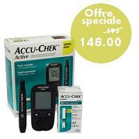 Offre Accu-Chek Active lecteur de glycémie + 10 bandelettes