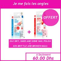 Offre Femme - Eveline Professional 3 en 1 vernis à ongles 60 secondes + Eveline Sos vernis multivitamine, calcium et collagen offert