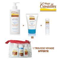 Rogé Cavaillès lait corps 200ml + crème mains 50ml  + baume à lèvres 5.5ml = 1 trousse avec 3 formats voyage offerte