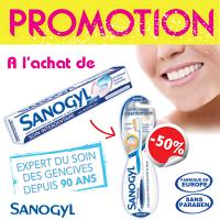 Sanogyl Dentifrice Soin Interdentaire (Tube 75ml) + Brosse A Dents Interdentaire -50%