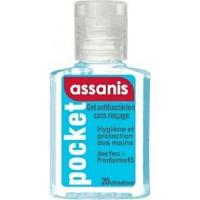 Assanis Gel Pocket Antibacterien Aloé vera + Pro-vitamine B5 sans Rinçage 20 ml