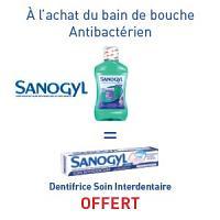 SANOGYL Bain de Bouche Antibactérien = SANOGYL Dentifrice Interdentaire OFFERT