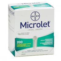 BAYER Microlet Lancettes 200