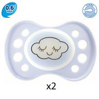 Dodie Sucette Anatomique Silicone 0-6 Duo Nuit32G