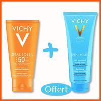 Offre Vichy Idéal Soleil Crème Onctueuse IP50+ (50 ml) + Ideal Soleil Lait Après Soleil (100ml) Offert