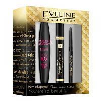 Pack Eveline Cosmetics (Kajal MegaMax, Mascara MegaMax, Correcteur Sourcils)