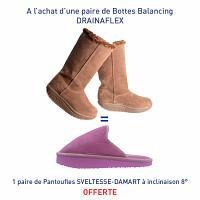 Drainaflex balancing bottes marron = Une paire de Pantoufles Pantoufles SVELTESSE-DAMART à inclinaison 8° offerte