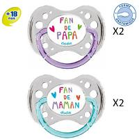 Dodie Sucette Anatomique Silicone +18 Duo Fan47