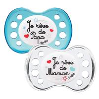 Dodie sucette anatomique silicone +6 duo nuit 36