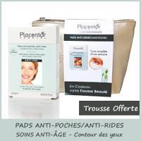 Offre Placentor Végétal Pads Yeux Anti Cernes, Anti Poches 6 sachets de 2 pads (6x3g) + trousse offerte
