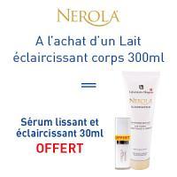 Nerola lait corps éclaircissant 300ml = crème lissante et éclaircissante 30ml est offerte