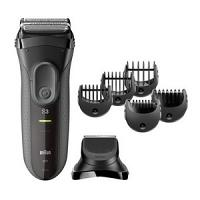 Braun Séries 3 Shave&Style 3000BT 3 en 1 Rasoir électrique, tondeuse de précision, 5 Sabots