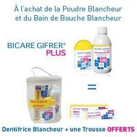 GIFRER BICARE PLUS - POUDRE + BDB = DENTIFRICE GRATUIT