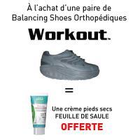 Balancing Shoes WORKOUT Gris = Crème Pieds OFFERTE