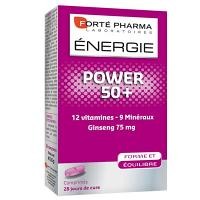 Forte pharma power 50+, 12 vitamines, 5 mineraux, ginseng 75mg (28 comprimes)