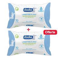 Pack Dodie Lingettes à l'eau biodégradables x70 unités 1-1 OFFERTE