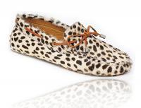 Mocassin cuire et cheveux de poney, femmes - Steve and Stevenson Leopard