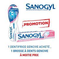 Sanogyl dentifrice soin gencives = Sanogyl brosse à dents gencives à -50%