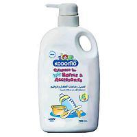Kodomo Liquide Nettoyage Biberons - Légumes Fruits et Accessoires Bébé Flacon Pompe 750ml
