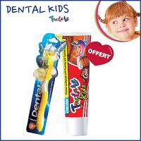 Offre Pack Dental kids tra-la-la Brosse à dents + Dentifrice Cola 50ml offert