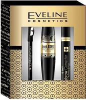 Pack Eveline Cosmetics (Mascara Big Revelashes, Correcteur Sourcils, Crayon Noir)