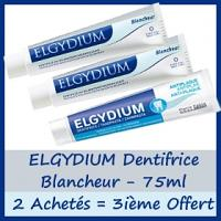 Offre Elgydium Dentifrice Blancheur 75ml - 2 Achetés + 3ième dentifrice Antiplaque OFFERT