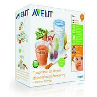 AVENT Pots de conservation SCF720/10 (0 % BPA)+ cuillère