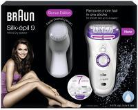 Braun Silk-épil 9 Wet & Dry Édition Bonus avec brosse nettoyante pour le visage  9-579